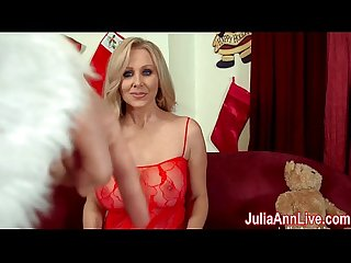Busty Milf Julia Ann Sucks Off Santa!