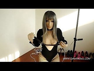 Doll self bondage Breath paly Fainted