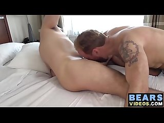 Chubby bears Nick Ravera and Sam Black have a fuck session