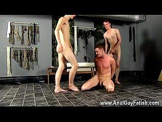 Armpit rimming Gay captive fuck slave gets used