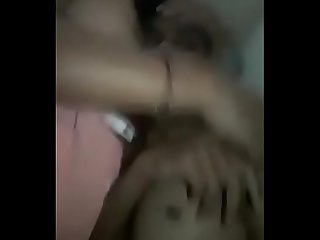 Desi indian wife with his lover make fun in her home