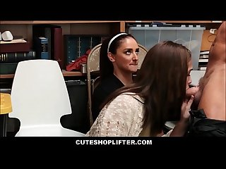 Hot Mom And Daughter Fucked By Security For Shoplifting