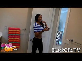 Breasty black girl loves to fuck