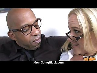 Sexy mom gets a creamy facial after getting pounded by a black dude 13