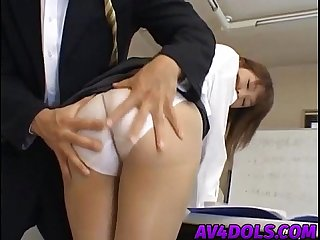 Arika takarano sexy Asian office lady gets harsh Fucking in the break room