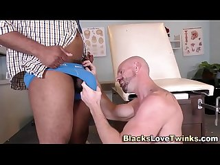 Black doctor gets a bj