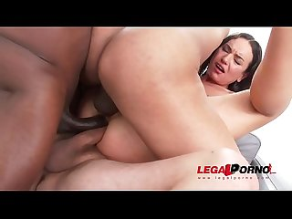 Nataly Gold Destroyed in monster cock fuck session with DAP & Triple penetration