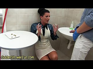 Urine slut cum soaked