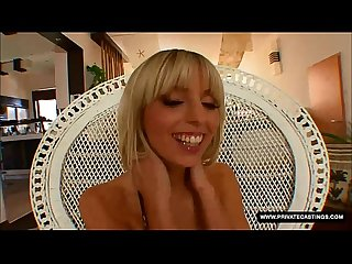 Big Boobed french blonde Stella Delcroix visits private�s casting couch
