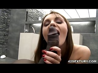 Interracial anal sex with the lingerie clad babe Dominica Phoenix