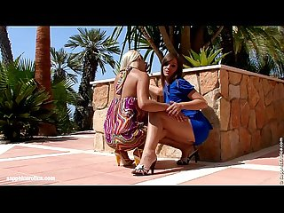 Backyard Rapture - lesbian scene with Rikki and Cate by SapphiX