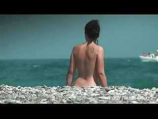 Nice young tits beach voyeur video