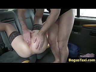 Uk babe loves getting fucked by taxi driver