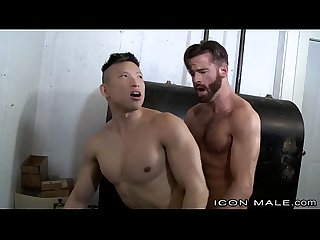 Straight Hairy Daddy Fucks Asian Muscle Behind Wife�s Back