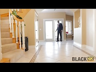 BLACK4K. Stepmom's colleague catches teen babe masturbating