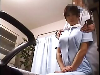 Japanese voyeur footage of clumsy nurses making up for their mistakes to A dominant doctor 1 upload