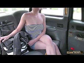 Sexy passenger gets baned hard and gains creampie in the cab