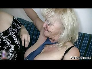Dirty blonde granny loves fucking a fat