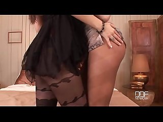 Kyla fox and Eve angel pantyhose fuck session