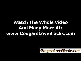 Black cock loving interracial hoe gets a cumshot