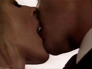 Amber Woods, Tom Byron, Marc Wallice in classic porn scene