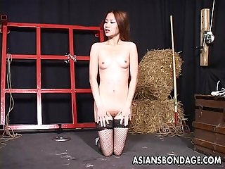 Two Asian bitches enjoy alone bdsm finger fucking time