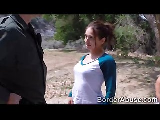 Slim immigrant crossed border to get fuck by hunk officer720p