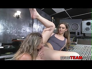 Lesbian teen eaten out