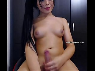 Cut tranny with candy hard cock