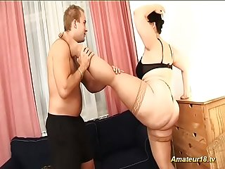 contortion sex with flexible BBW wife