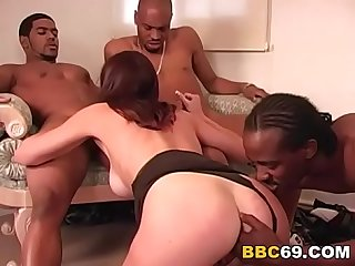 Anal Slut Brooke Gets Gangbanged by Black Cocks