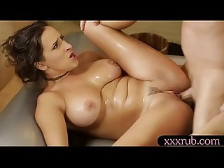 Lovely masseuse ashley adams drilled by handsome man