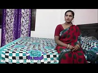 Big boobs indian aunty in red saree fucked by neighbour boy and record her