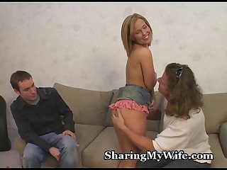 Nervous Hubby Shares Petite Wife