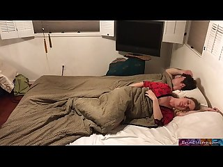 Stepmom shares bed with stepson erin electra
