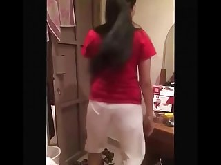 Hot Indian girl dance with friends