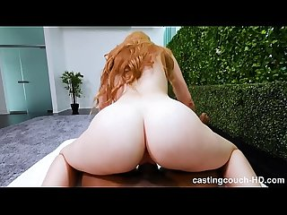 Redhead with fat ass fucks first black guy