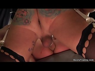 Shemale nurse anal bangs dude and cums