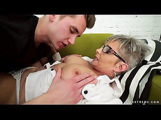 Lusty grandma vs young big cock jessye oliver