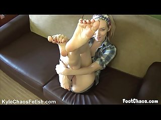 Pov foot worship fetish with orias