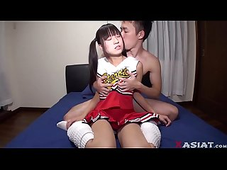 Tiny japanese cheerleader with baby face part 2 on xasiat com