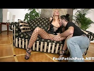 Naughty feet fetish blonde