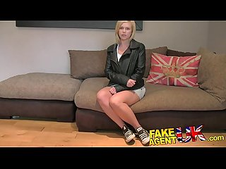 Fakeagentuk british blonde milf devours cock for cash