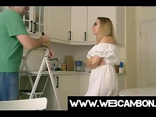 Milf teasing on webcam while handy man is working www webcambon ga