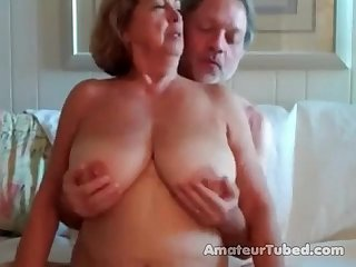 Big boobed mature woman rides her husband 3 wear tweed