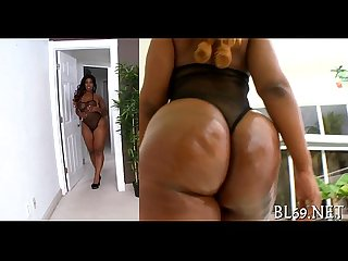 Stud bangs black fur pie with joy