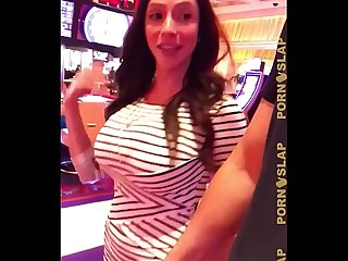 PornSlap Ariella Ferrera Picked Up In Casino
