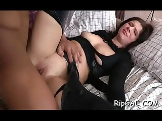 Stunning slut is feeling strong orgasms from valuable anal sex