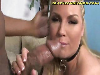 Hot Blonde Black Dick