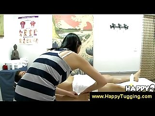 Asian masseuse shows her excitement